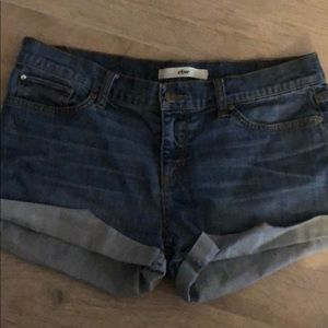 Else denim cuffed blue jean shorts
